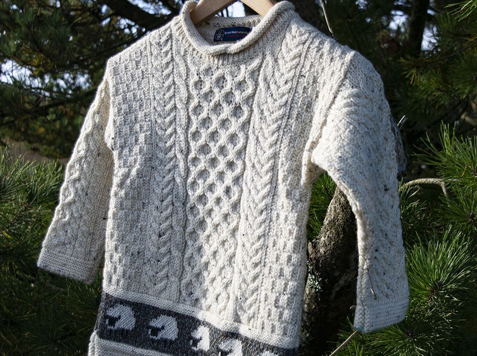 Child Aran Tunic Jumper