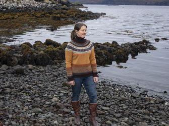 Alpine Roll Collar Sweater in Goldfinch