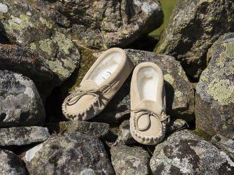 Children's Slippers (UK Child 4 - Adult 2) (Pink or Beige)