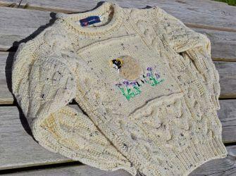 Child's Aran Jumper with sheep motif