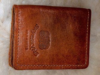 Vegetable Tanned Leather Credit Card Holder