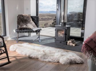 Cappuccino Double End To End Sheepskin Rug/ Throw 185x70cms