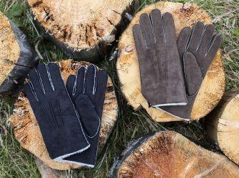 Men's Sheepskin Gloves in Black or Brown