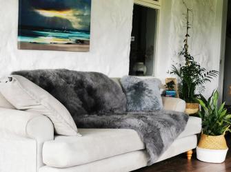 Grey Mosaic Sheepskin Rug (Choice of sizes available)