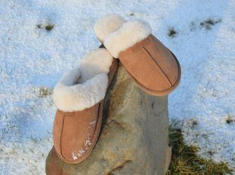 Sheepskin Mule Slippers Chestnut (UK 4-8)