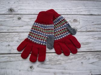 Lewis Gloves in Scarlet