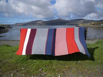 Flag Throw in Pure New Wool