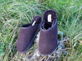 Sheepskin Mule Slippers Brown (UK 7-12)
