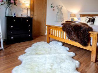 Merino Quad Sheepskin Rug 185x105cms