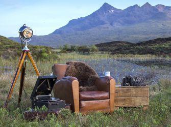 Natural Brown Medium Sheepskin Rug / Throw 95x60cms