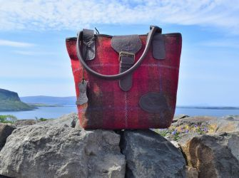 Olivia Tweed and Leather Handbag (choice of tweed colours)