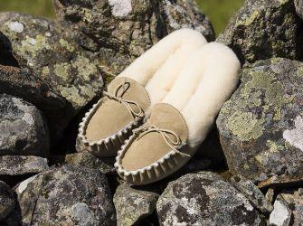 Ladies' Sheepskin Lined Slippers (UK 3-8)
