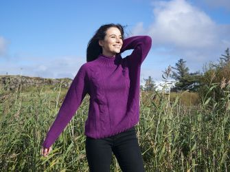 Turtle Neck Sweater in Forest Green or Crushed Blackberry