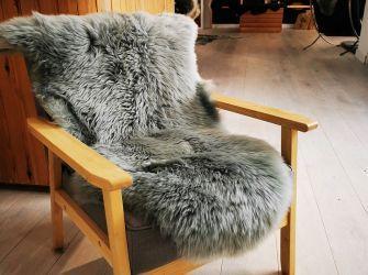 Soft Grey Large Sheepskin Rug/Throw