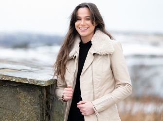 Sophia Leather and Sheepskin Jacket in Nude or Black