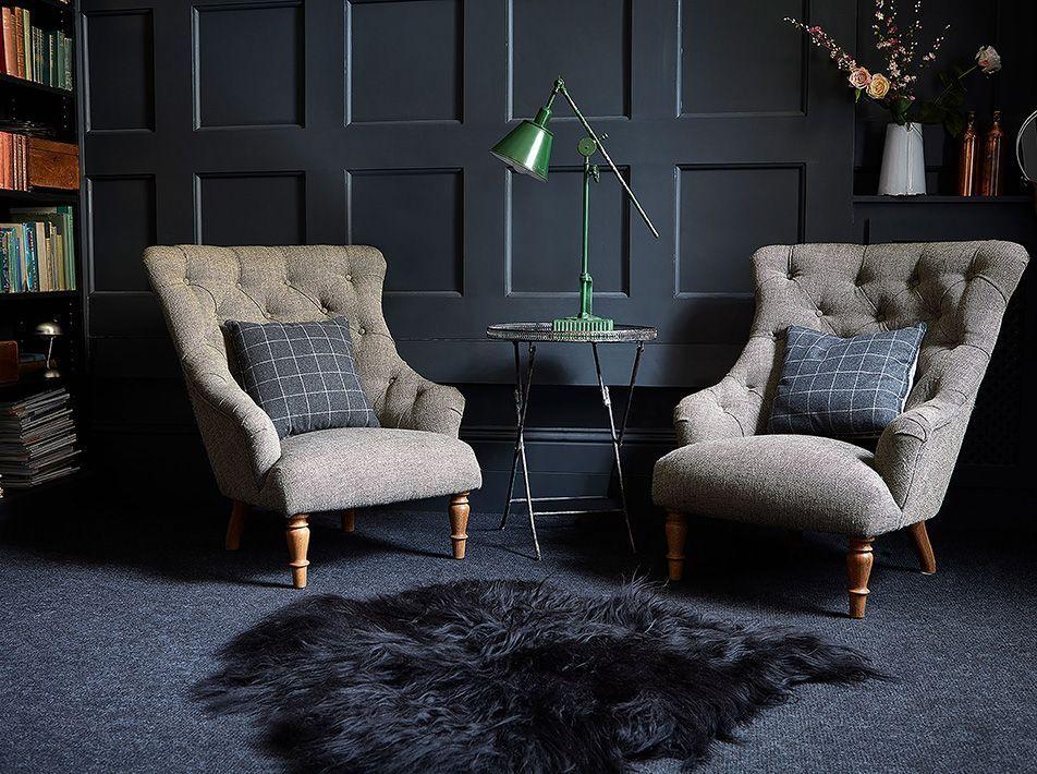 Icelandic Black/Brown Sheepskin Rug / Throw 110x80cms