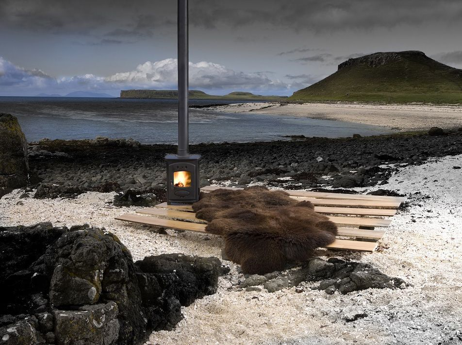 Natural Brown Quad Sheepskin Rug / Throw 185x105cms