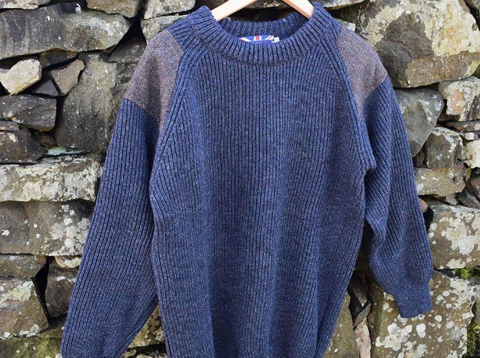 Tweed crew in denim
