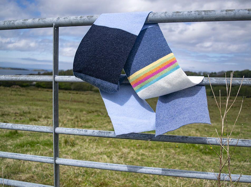 Delauney scarf in denim