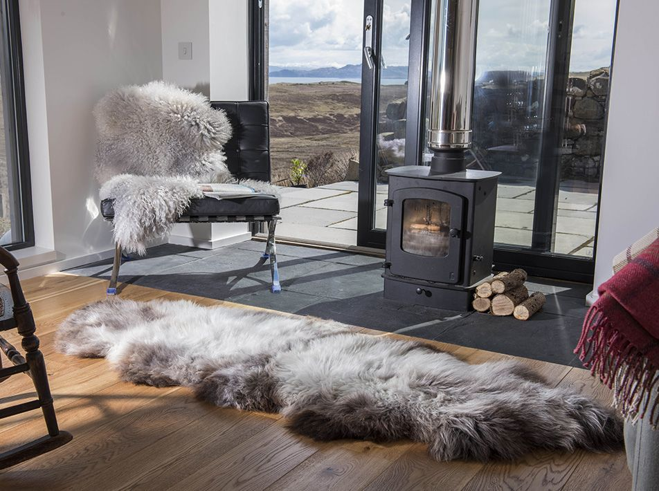 Donnetti Ruffer Double End-To-End Sheepskin Rug/ Throw 185x70cms