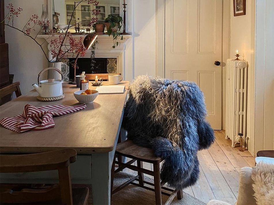 Norse XL Sheepskin Rug / Throw 120x82cms