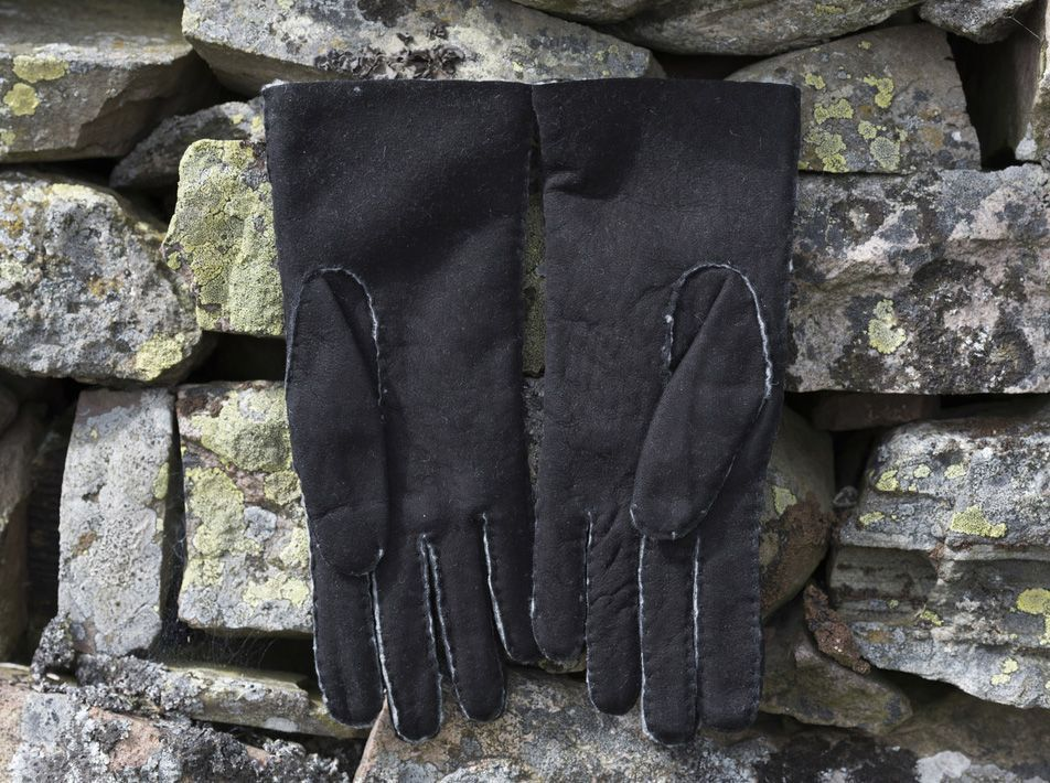 Ladies' sheepskin glove black