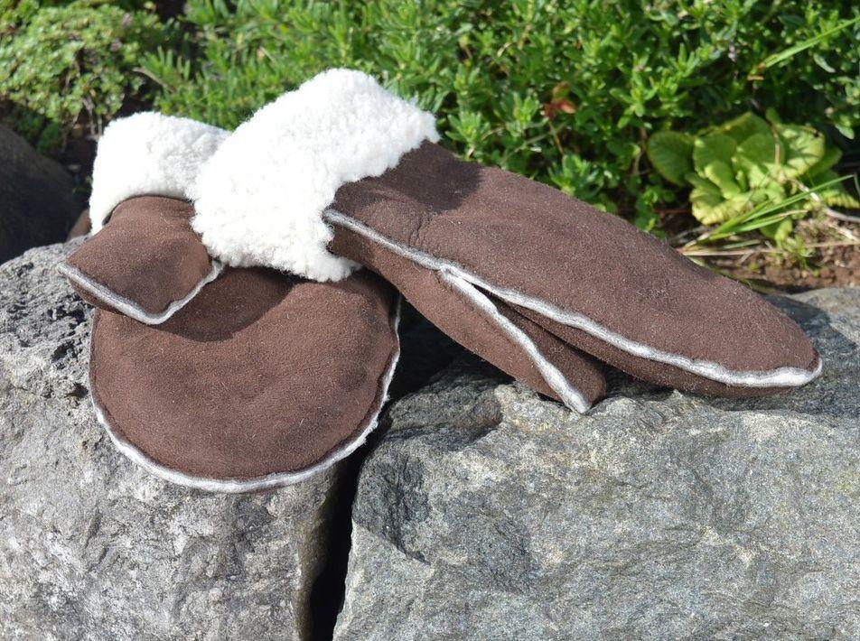 Sheepskin Mittens Brown