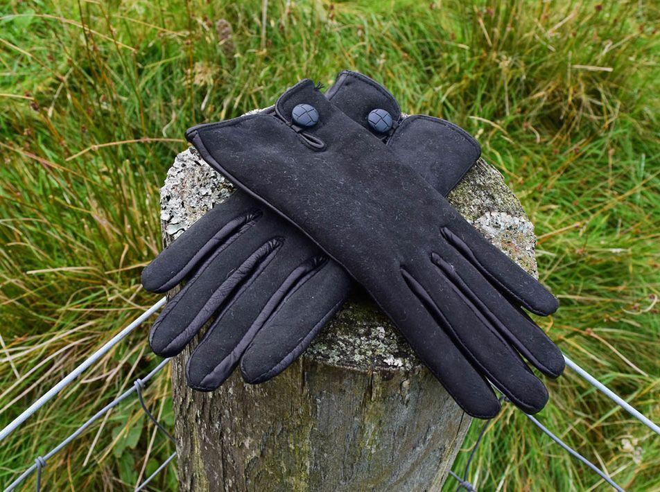 Nappa Leather/ Lambskin Gloves  black