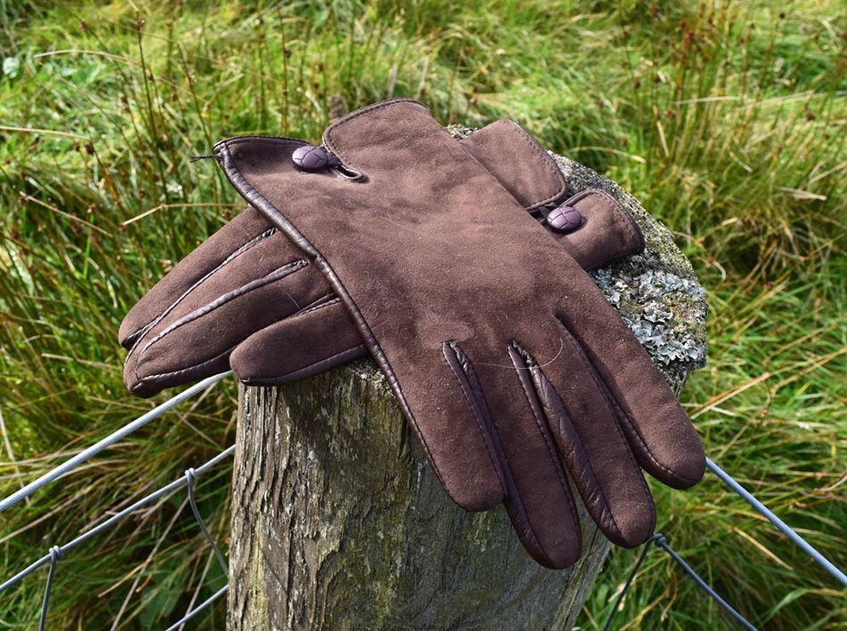 Nappa Leather/ Lambskin Gloves  brown