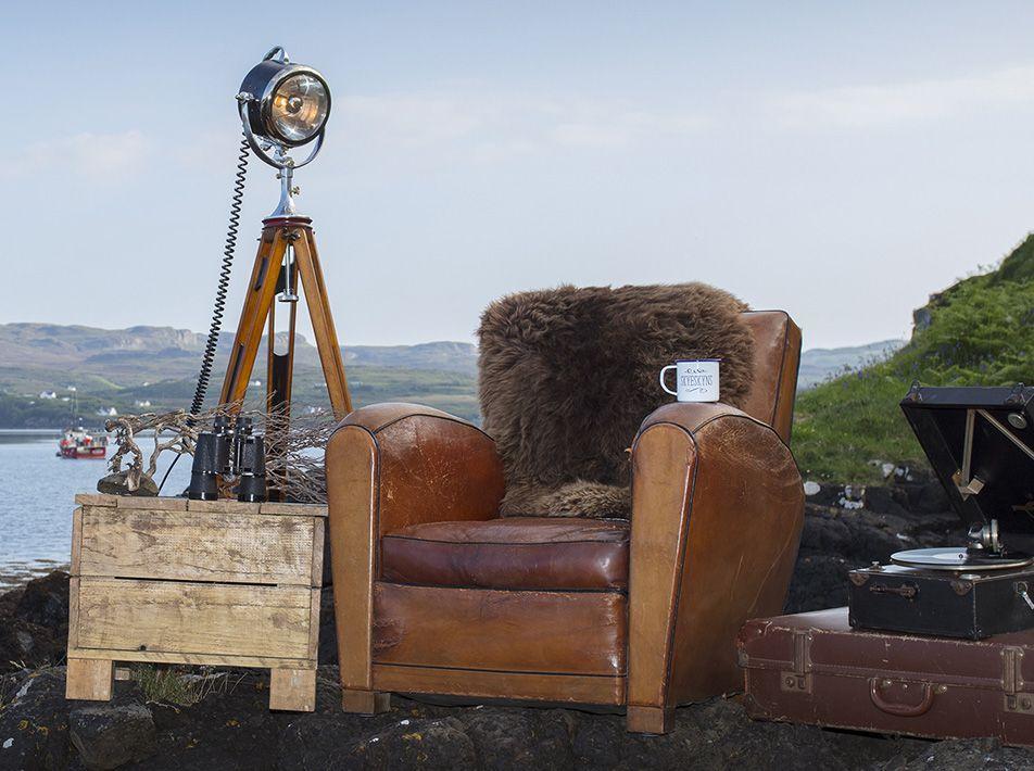 Natural Brown Large Sheepskin Rug 105x66cms