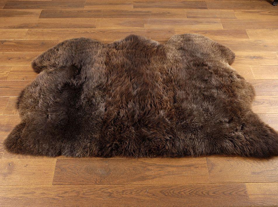 Natural Brown Sheepskin Rug Triple 95x150cms
