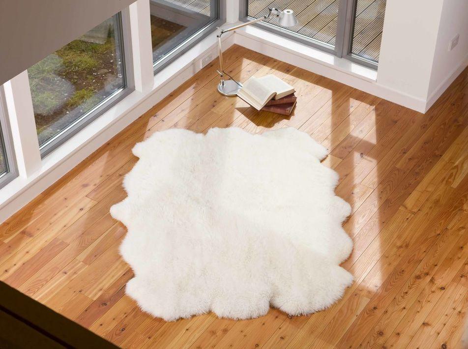 Natural White Sexto Sheepskin Rug 190x140cms