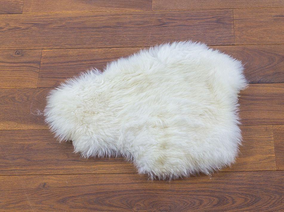 Small Sheepskin Pet Mat in White