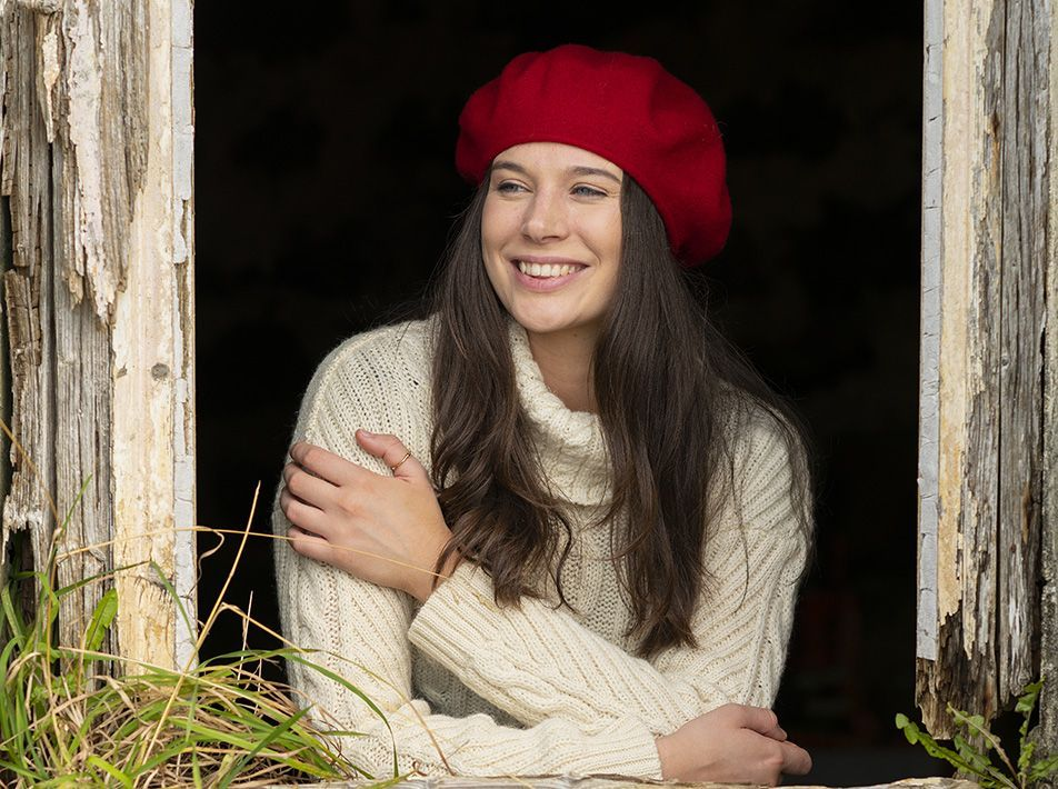 Classic Wool Beret red