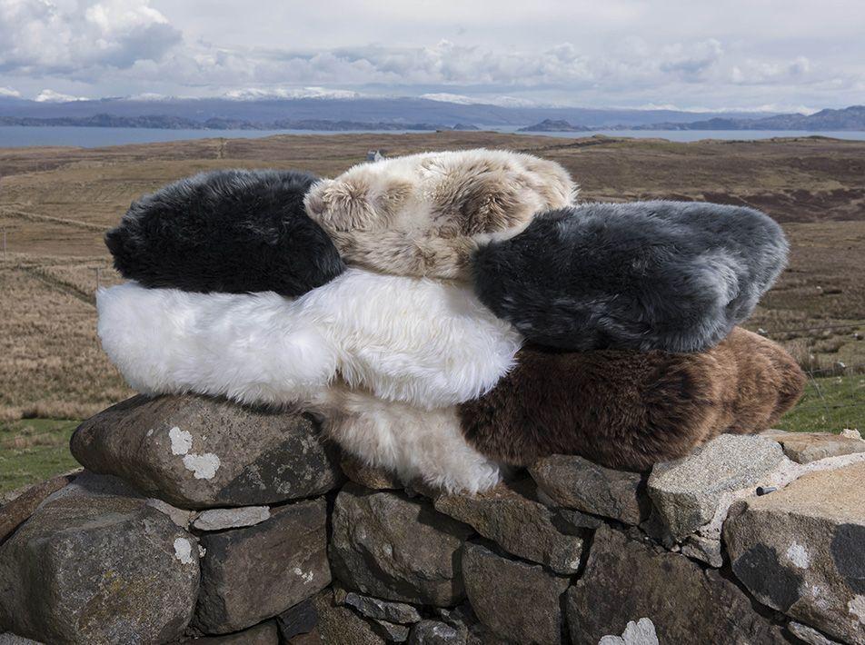 Square sheepskin cushion choice