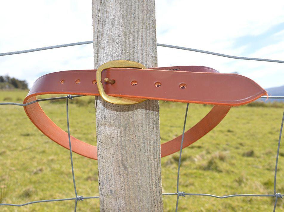 Handmade Leather Belt tan