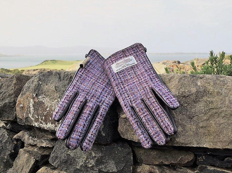 Ladies' Harris Tweed Gloves Violet