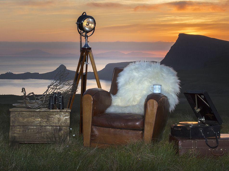 Icelandic White Sheepskin Rug / Throw 110x80cms