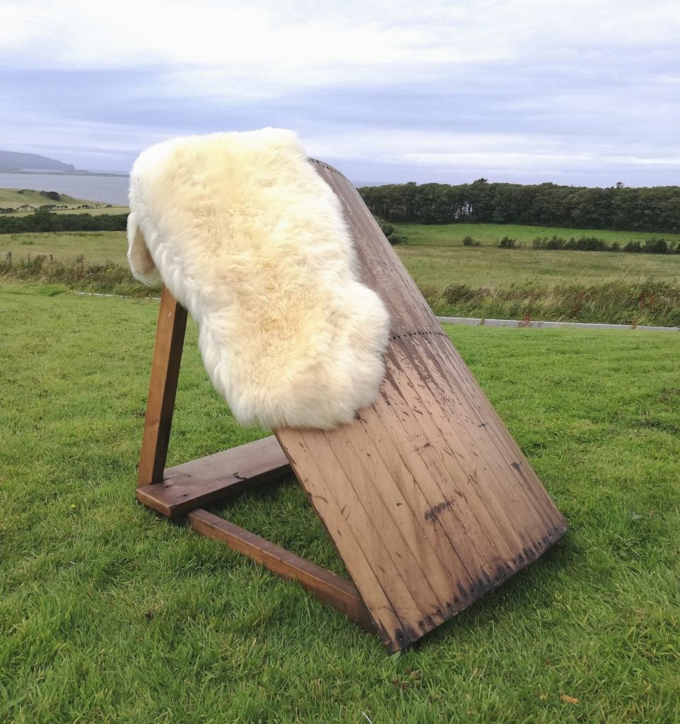 White small mimosa sheepskin, Skyeskyns, Scottish sheepskins