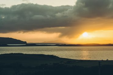 Skyeskyns, sunset in Waternish