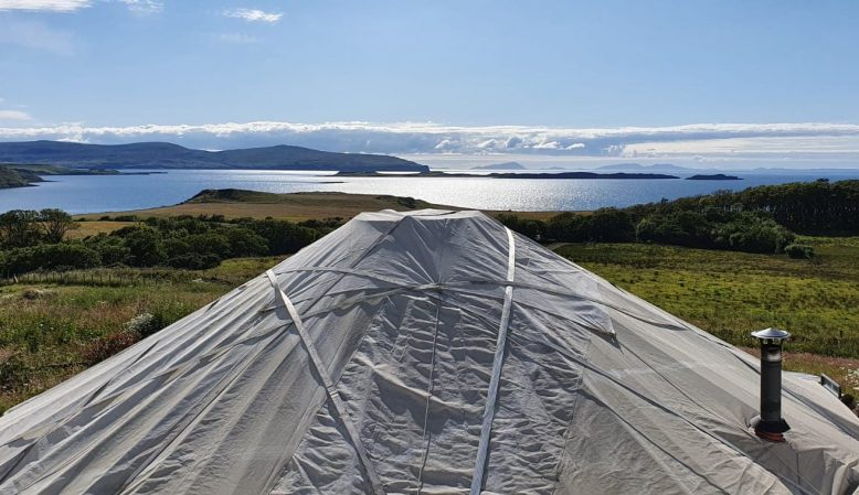 Yurt view, Skyeskyns, WAternish