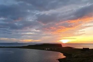 sunset Trumpan, Visit WAternish, Skyeskyns, Isle of Skye
