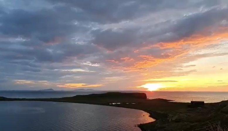 sunset Trumpan, Visit WAternish, Skyeskyns, Isle of Skye